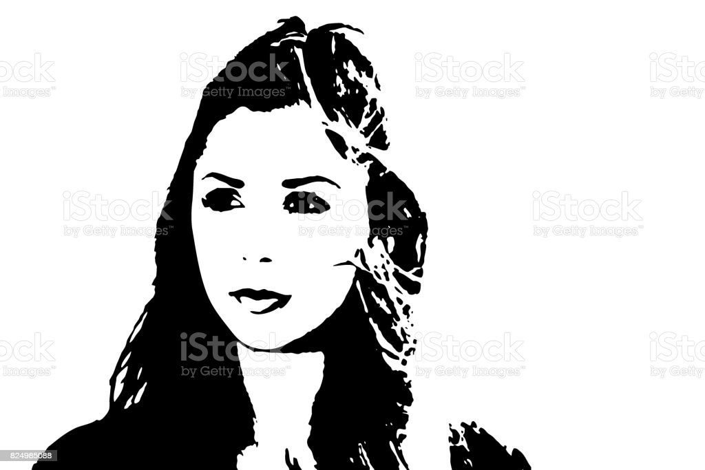 Young Woman - Vector Graphic vector art illustration