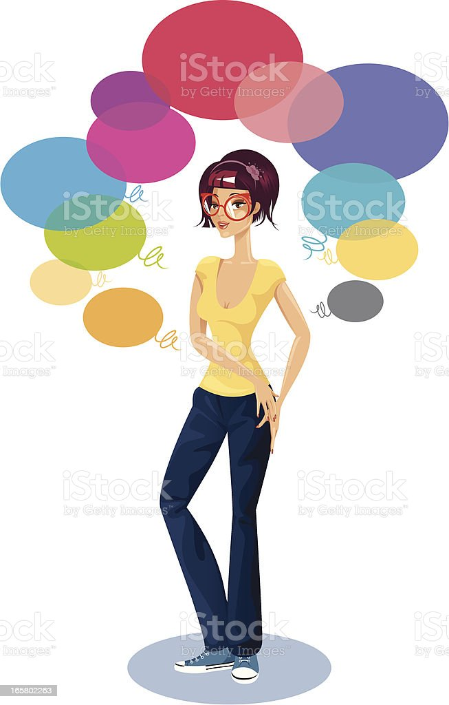 Young woman. royalty-free stock vector art