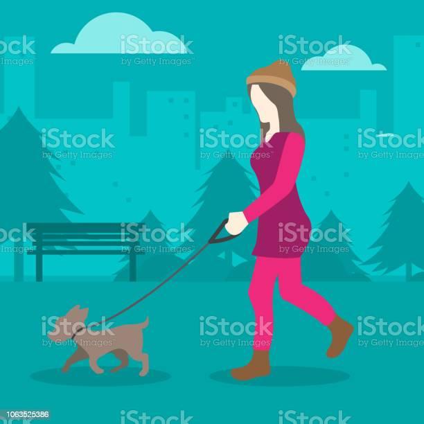 Young woman walking a dog in the park vector id1063525386?b=1&k=6&m=1063525386&s=612x612&h=5v8jyouxjebjlf xunuate9qzngjpycpq8gubbta8ku=