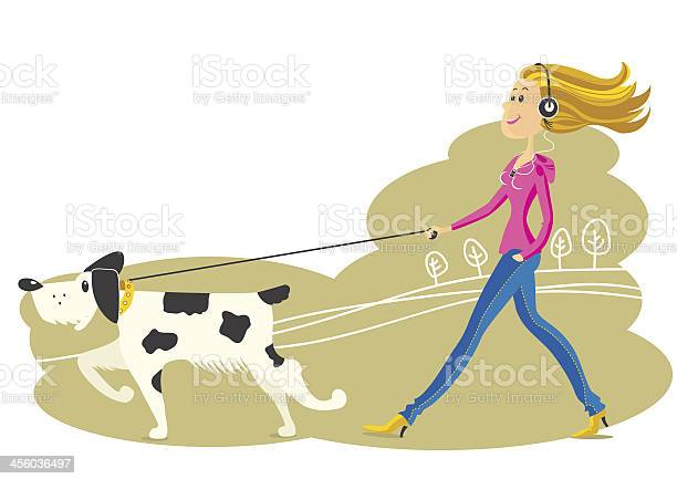 Young woman walking the dog vector id456036497?b=1&k=6&m=456036497&s=612x612&h=jh39ldkw97vmvoiy7vrwoi86we53ks dchjreegjagi=