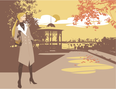 Fall fashion stock illustrations