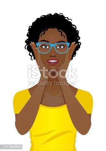 istock Young woman wearing eye glasses 1211840905