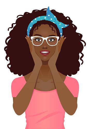 Young woman wearing eye glasses