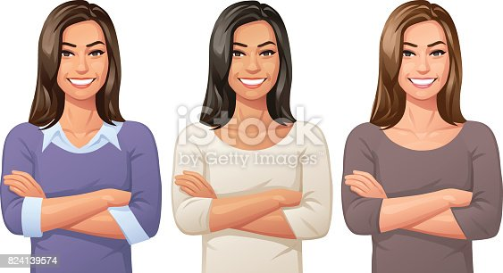 istock Young Woman With Arms Crossed 824139574