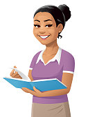 istock Young Woman With Book 1299267060