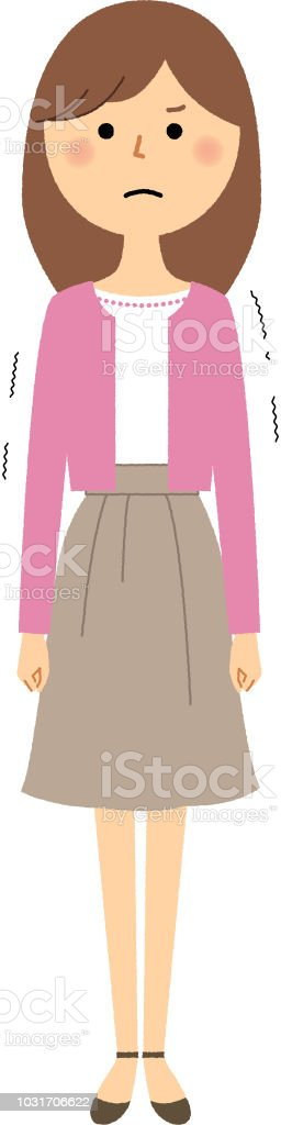 Young woman,mama,Regrettable vector art illustration
