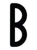 Black Simple Younger Futhark Runes Letter of Berkanan