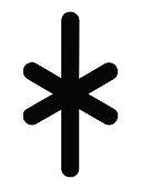 Black Simple Younger Futhark Runes Letter of Kaunan