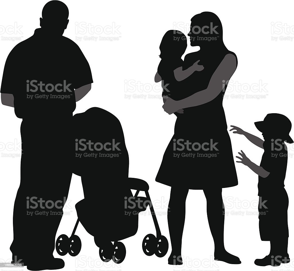 Younger Kids Vector Silhouette