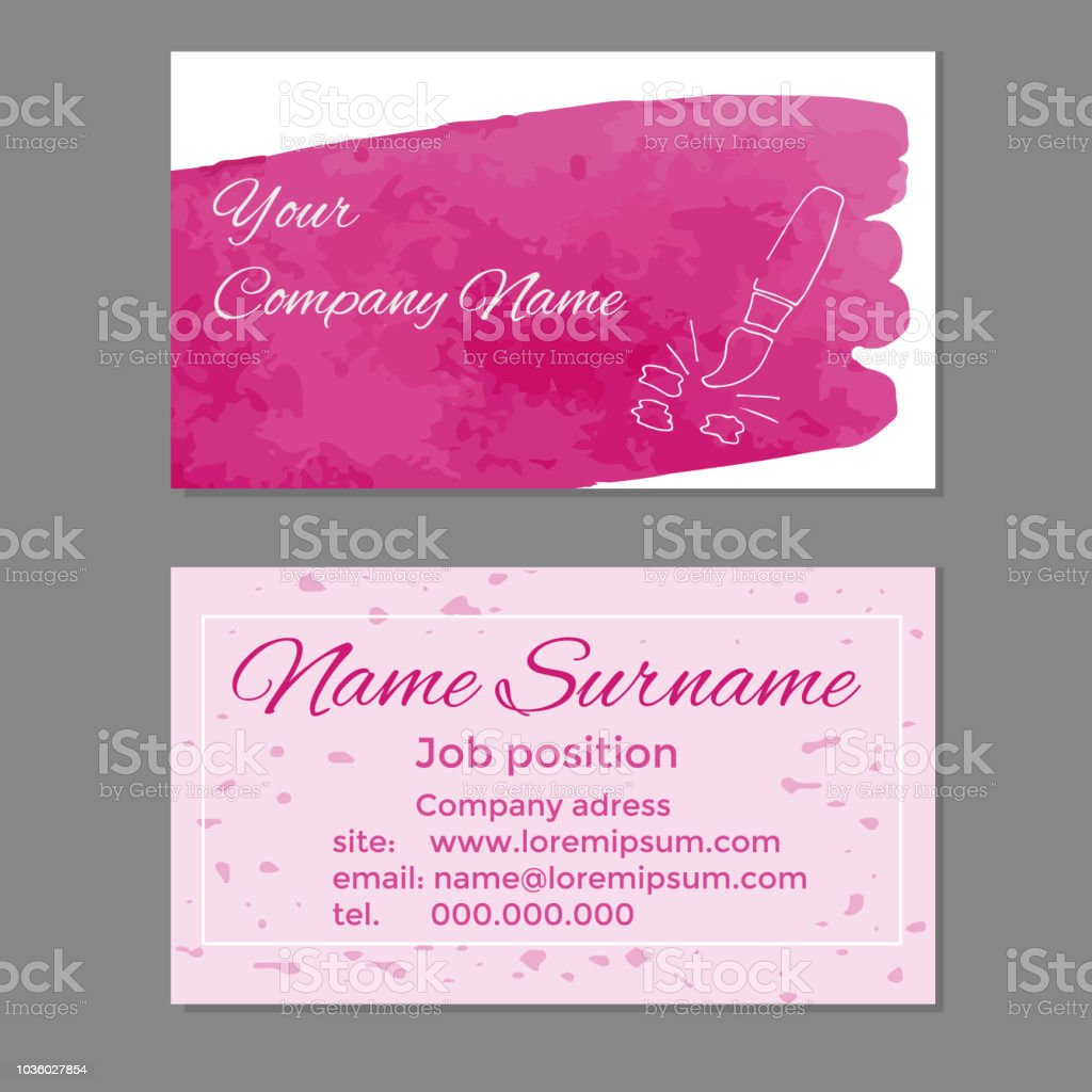 Ihre Firma Name Visitenkarten Vorlage Stock Vektor Art Und