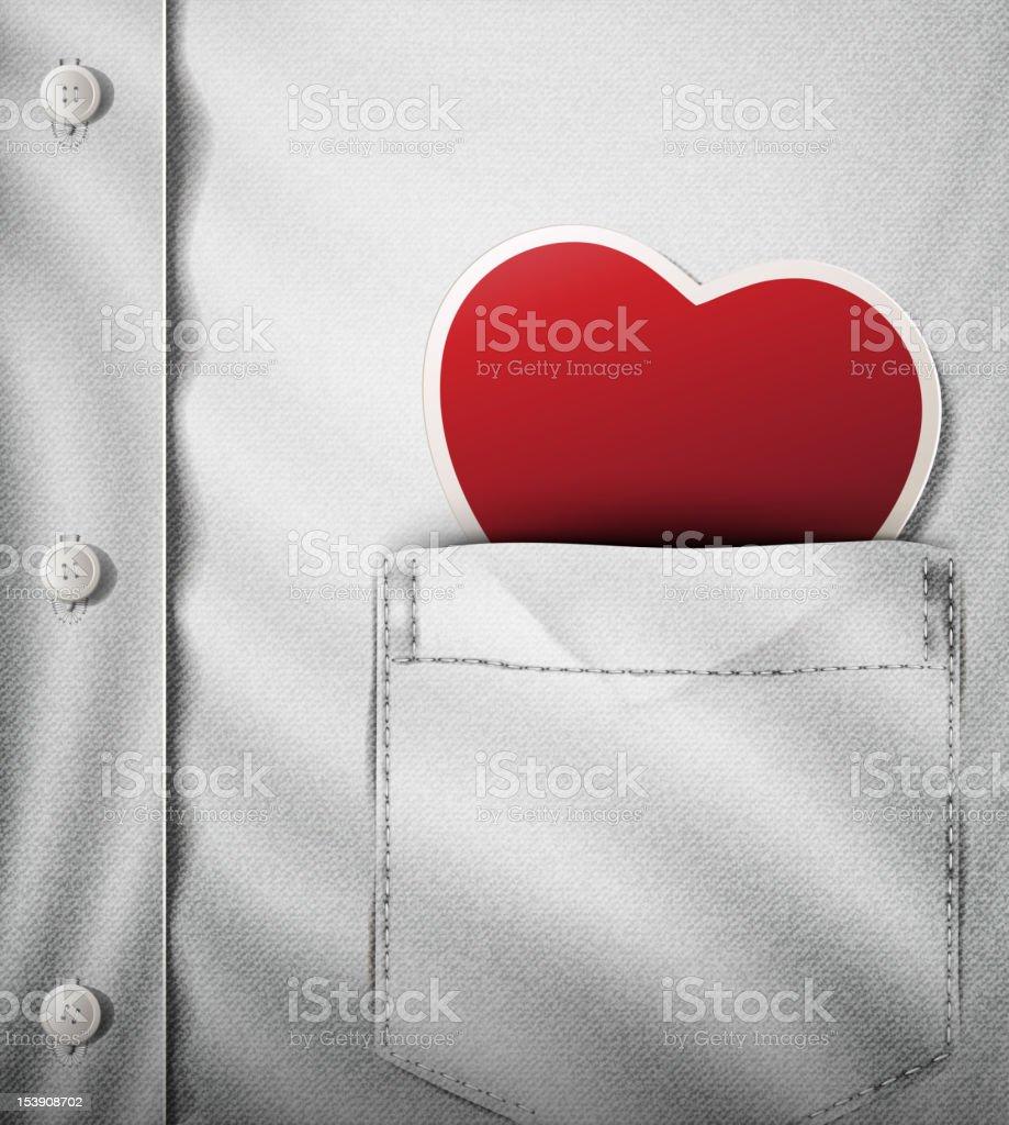 Your heart next to mine- Happy Valentine. vector art illustration