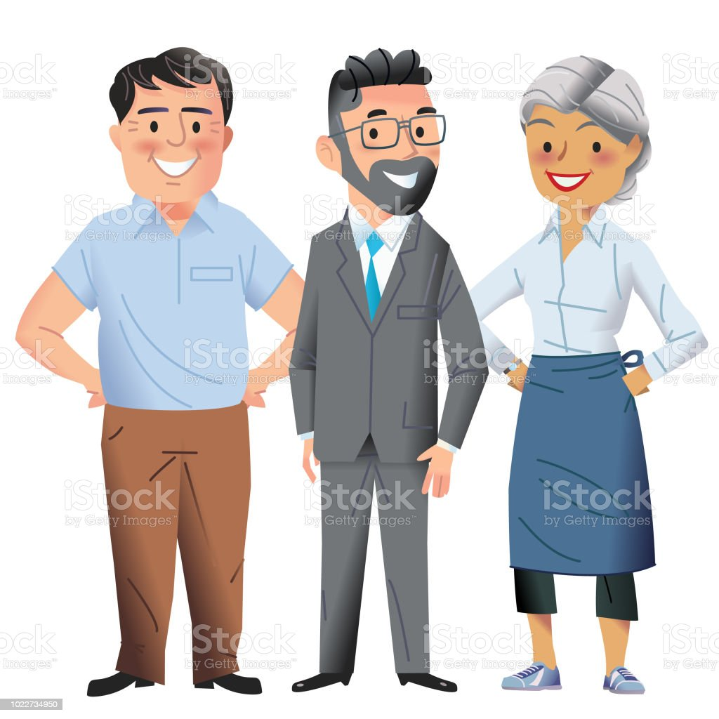Your helpful team vector art illustration