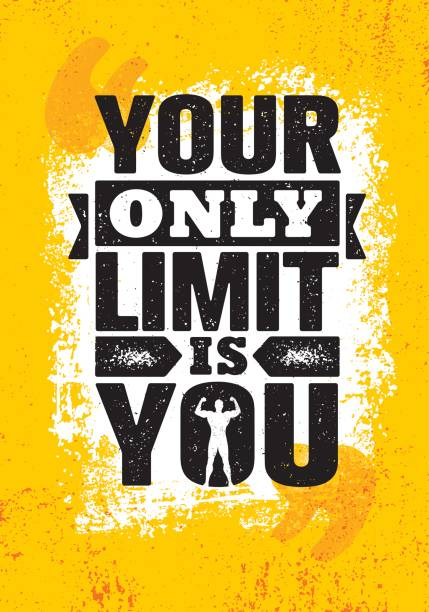 Your Only Limit Is You. Inspiring Creative Motivation Quote Poster Template. Vector Typography Banner Design Concept Your Only Limit Is You. Inspiring Creative Motivation Quote Poster Template. Vector Typography Banner Design Concept On Grunge Texture Rough Background inspirational quotes stock illustrations