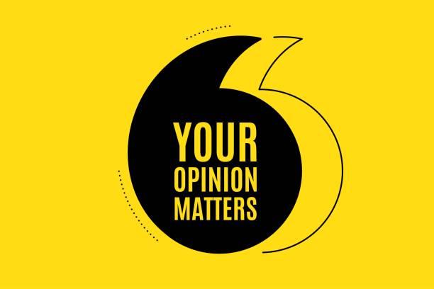 ilustrações, clipart, desenhos animados e ícones de sua opinião importa símbolo. levantamento ou sinal de feedback. vetor - feedback