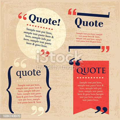 Your Quote Here Speech Bubbles set with grunge texture
