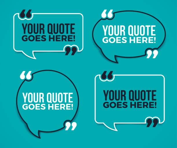 your quote here speech bubbles - speech bubble stock illustrations, clip art, cartoons, & icons