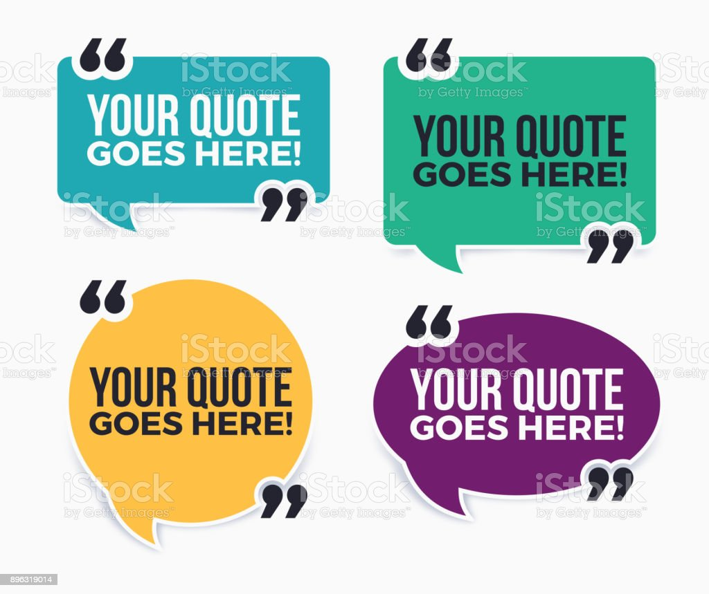 Your Quote Here Speech Bubbles Stock Illustration