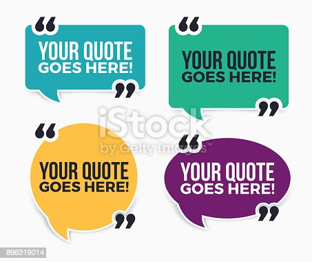 Your Quote Here Speech Bubbles