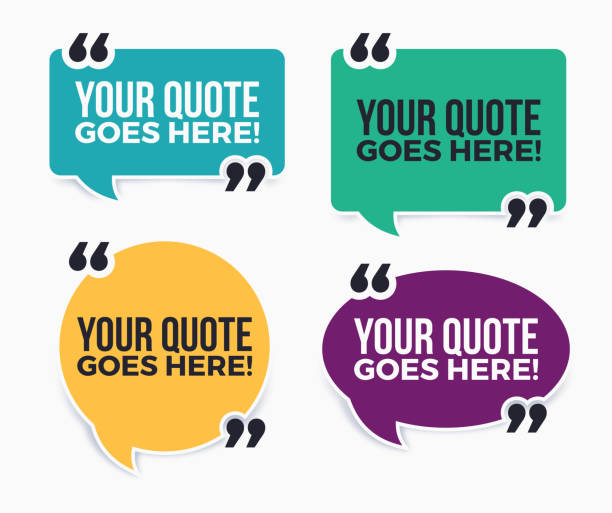 Your Quote Here Speech Bubbles vector art illustration
