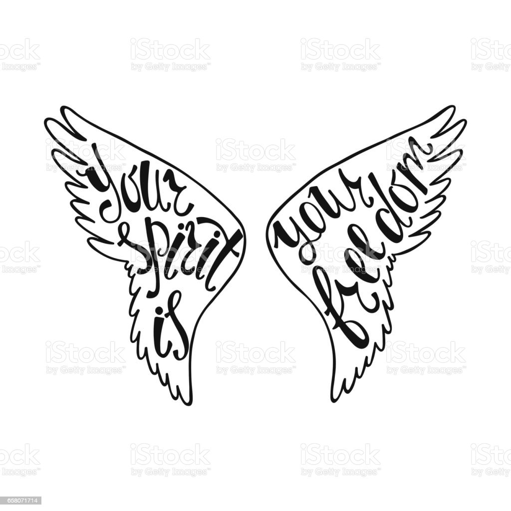 Your spirit is your freedom. Inspirational quote royalty-free your spirit is your freedom inspirational quote stock vector art & more images of angel