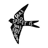 Your spirit is your freedom. Inspirational quote