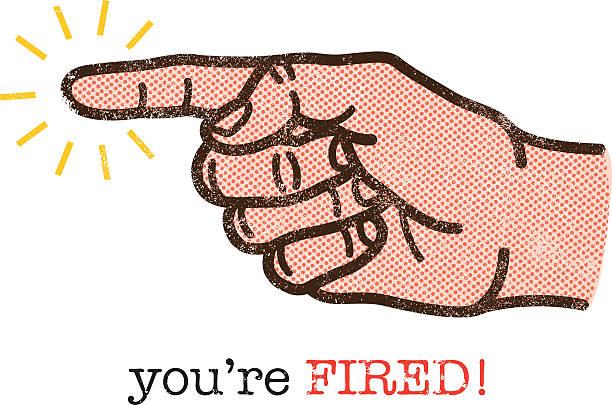 You're fired illustration vector art illustration