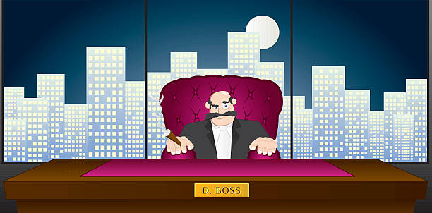 you're fired!! - old man smoking cigar stock illustrations, clip art, cartoons, & icons