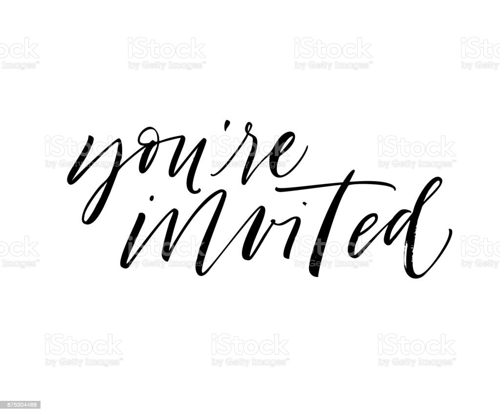 royalty free youre invited text clip art vector images rh istockphoto com you're invited animated clipart you're invited wedding clipart