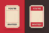 You're invited event party invitation ticket with space for your copy.