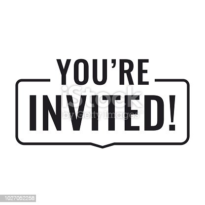 istock You're invited! Flat vector illustration on white background. 1027052258