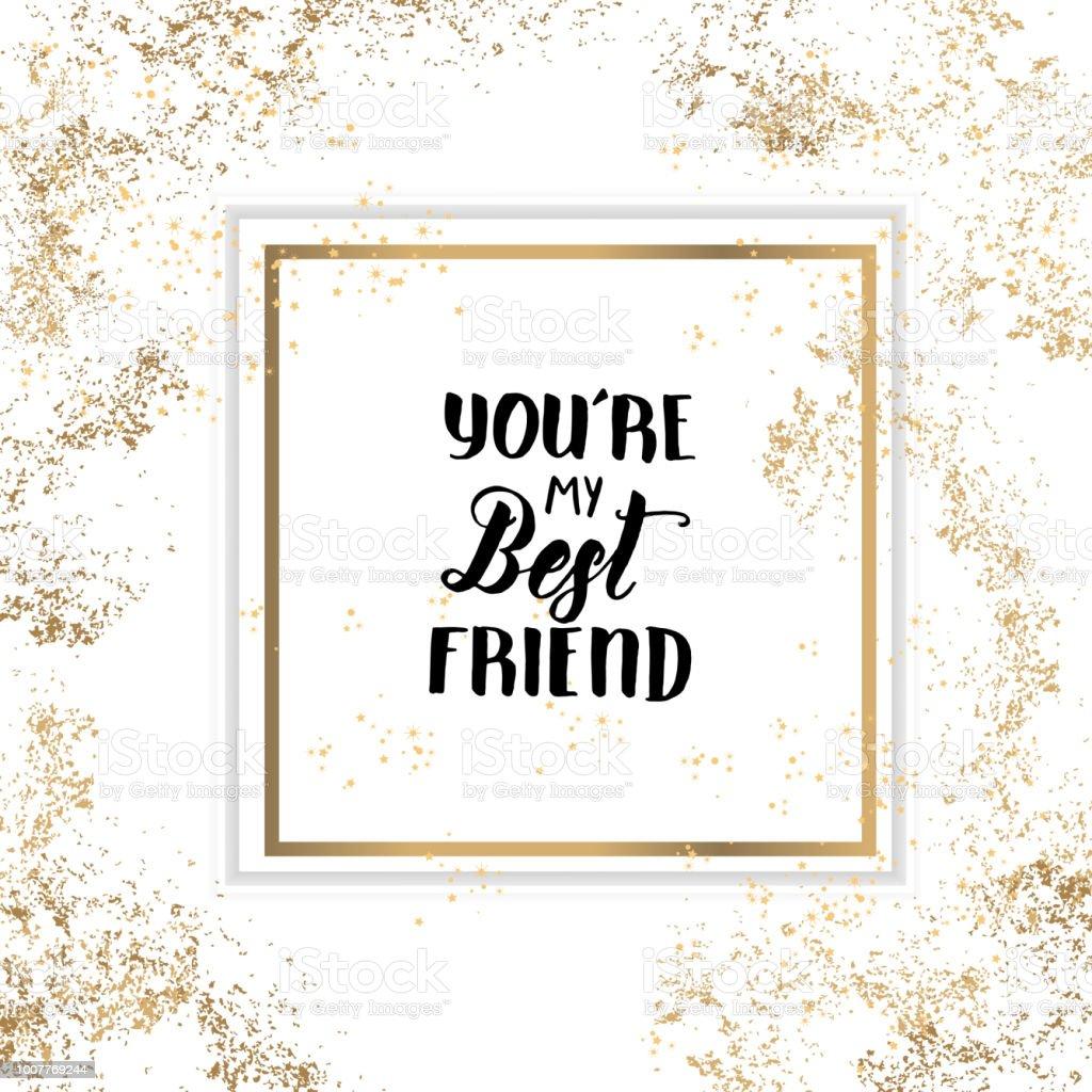 Du Bist Mein Bester Freund Friendship Day Schriftzug Kalligraphie ...