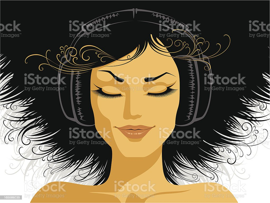 Youth and music vector art illustration