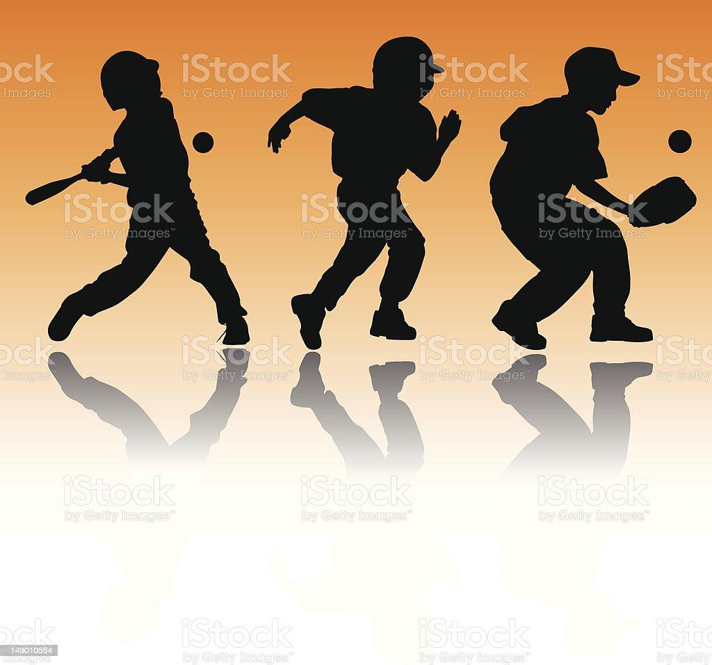 Youth Baseball royalty-free stock vector art