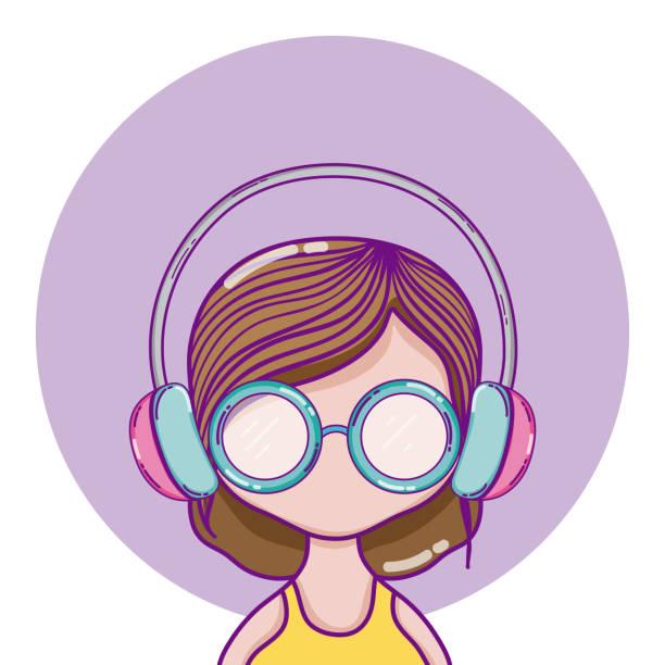 jugend-kultur-avatar - glasohrringe stock-grafiken, -clipart, -cartoons und -symbole