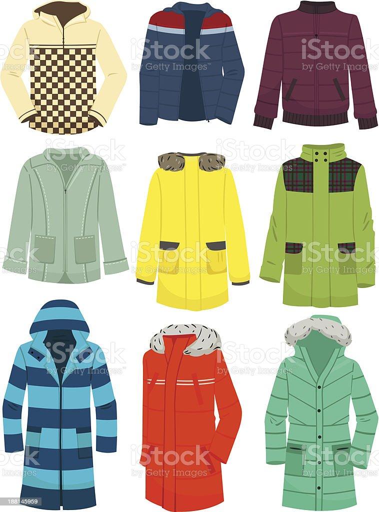 Youth men's jackets vector art illustration