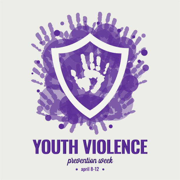 youth violence prevention week - domestic violence stock illustrations