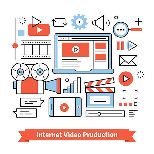Youtuber video production studio ベクターアートイラスト