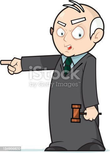 This is a vector file of Judge Jerry condemning you to JAIL!