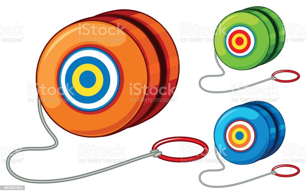 Yoyo in three different colors