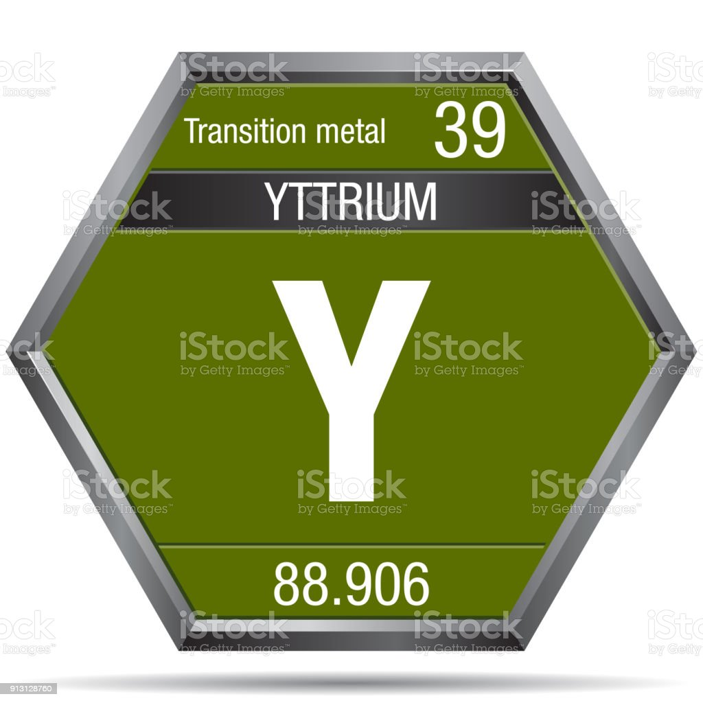 Yttrium symbol in the form of a hexagon with a metallic frame yttrium symbol in the form of a hexagon with a metallic frame element number 39 urtaz Image collections