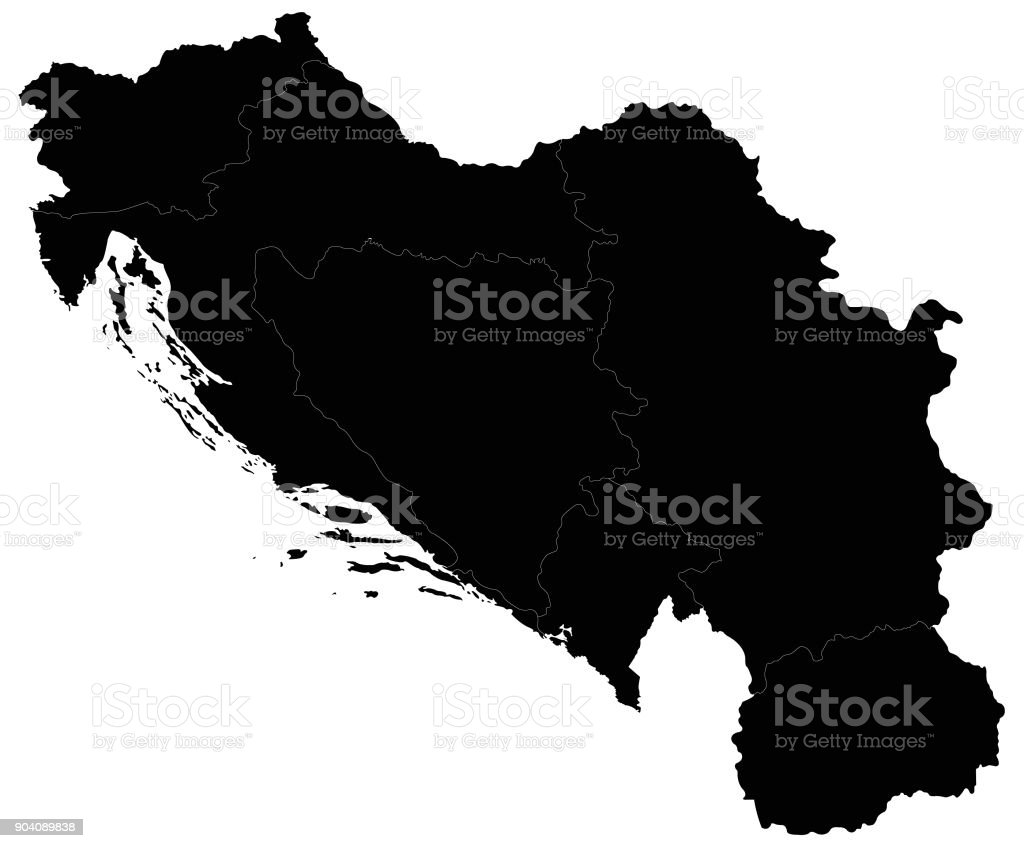 Jugoslawien Karte.Jugoslawienkarte Stock Vektor Art Und Mehr Bilder Von Bosnien Und
