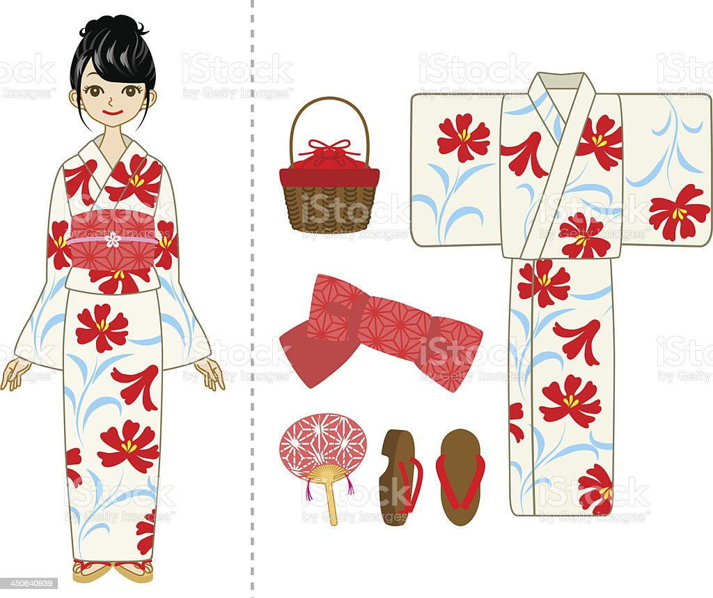 日本の浴衣カップル のイラスト素材 175859489   istock