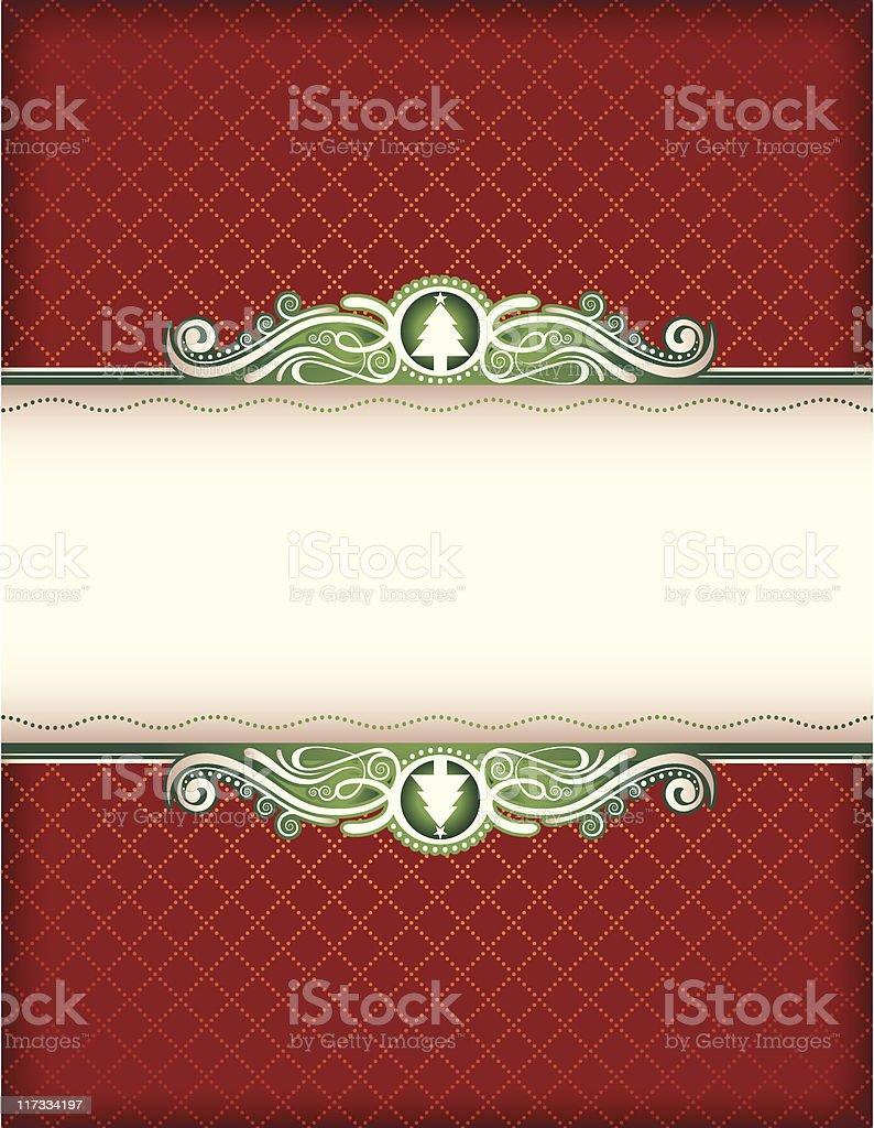 Yuletide Frame royalty-free stock vector art