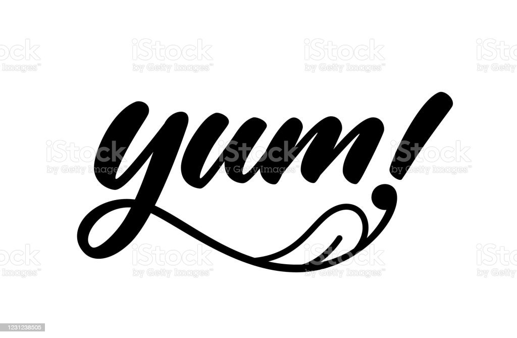 Yum Yummy Handwritten Word Stock Illustration Download Image Now Istock