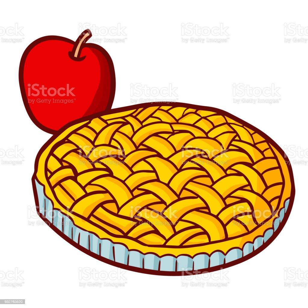 D licieuse tarte aux pommes vecteurs libres de droits et plus d 39 images de aliment istock - Dessin de tarte aux pommes ...