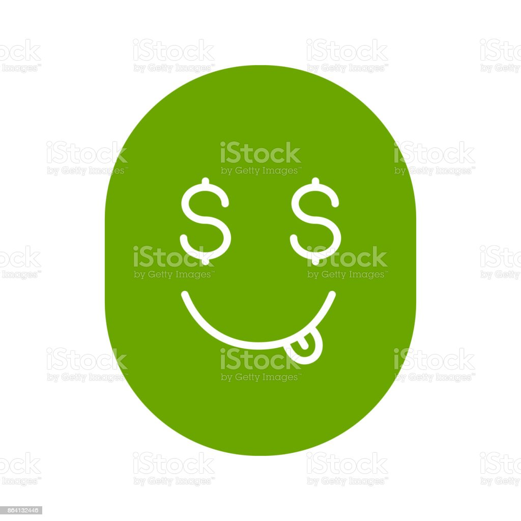 Yummy dollar emoji glyph icon royalty-free yummy dollar emoji glyph icon stock vector art & more images of cheerful