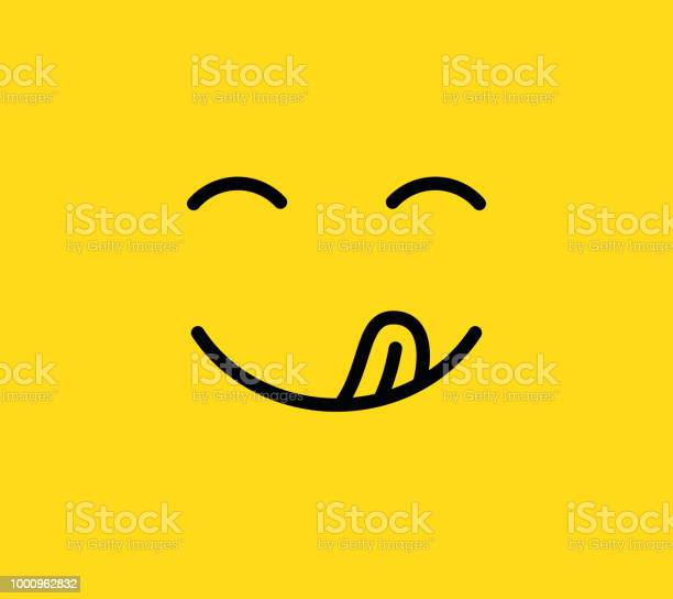 Yummy smile delicious tasty eating emoji face with mouth and tongue vector id1000962832?b=1&k=6&m=1000962832&s=612x612&h=zuxikcpmbiqxkb0iy6l2ui7eozlqrqucdpsu4pe9u c=