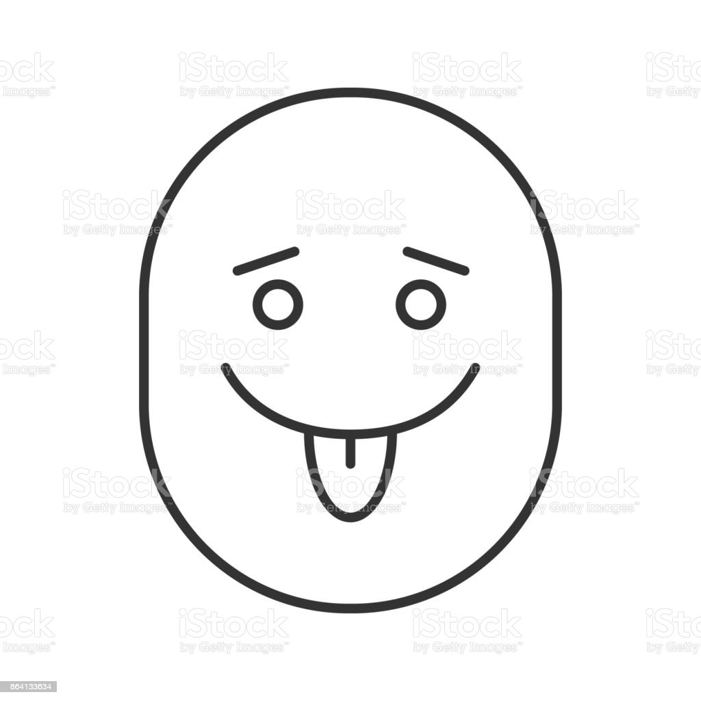 Yummy smiley with open eyes icon royalty-free yummy smiley with open eyes icon stock vector art & more images of careless