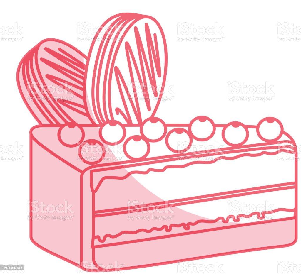 b93dea78960c Yummy sweet cake slide piece vector illustration graphic design -  Illustration .