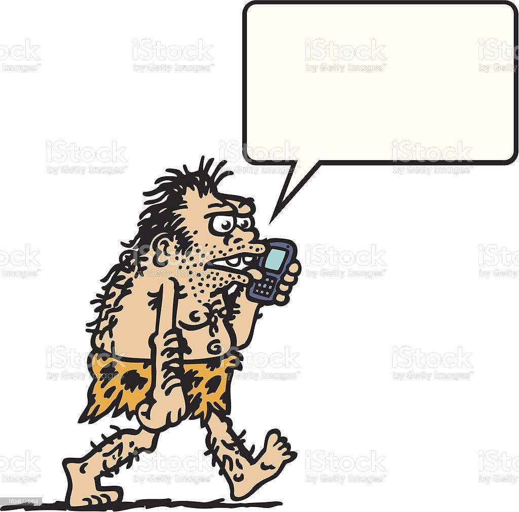 Yuppie Caveman vector art illustration
